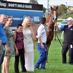 Wild Rain & owners after Moonee Valley win